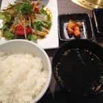旬の野菜と焼肉 大地の匠 - プレオープン時のランチセット