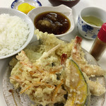 天ぷら定食ふじしま - 天ぷら定食
