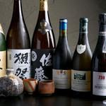 西中洲 鮨 山椒郎 - 日本酒・ワイン・焼酎各種