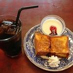 ボン珈琲店 - アイスコーヒー400円、モーニング