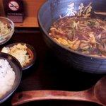 手打かすうどん 香粋一 - かすカレー定食(2玉) 680円