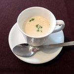ビストロシュン - 料理写真:デミサイズのポタージュスープ