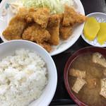 ひら川 - かつ定食:ご飯少なめ ¥550