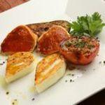 2種の焼きチーズ 焼きトマト添え