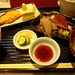 57780911 - 銀鮭の粕漬け・刺身は鰹とさわらW