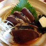 司 - 一本釣り炙り鰹のたたき定食です♬