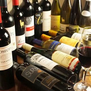 ワインの種類も豊富です。