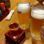 炉ばた焼 しばらく - 魚が美味しそうだったので日本酒にしました(空気読めずすいません)