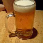 神戸屋レストラン - ドリンク写真:ビール到着