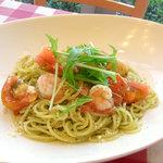 タンポポ - 海老とトマトのジェノベーゼ