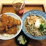 茶子溜り - 茶子溜り @northport MALL ソースカツ丼セット 980円