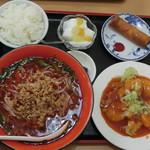 57800736 - エビチリ定食 台湾ラーメン