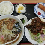 57800746 - コマ焼定食 醤油ラーメン
