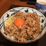 丸亀製麺 - 牛すき釜玉(並)640円