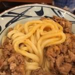 丸亀製麺 - 牛すき混ぜ混ぜ〜