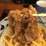 丸亀製麺 - 牛すきには牛肉これでもか〜