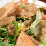 印度料理シタール - 2016.10 シタールサラダ(648円)タマリンドドレッシング