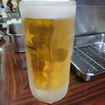 串かつ 一口 - 生ビール(サッポロ) 550円