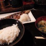さすらい人 - サンマ焼き+半ライス(みそ汁付き)