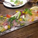57813524 - 瀬戸内直送 活〆鮮魚のカルパッチョ