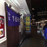 塩竈市場食堂 - こんな感じの場所にあります(^^)/
