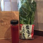 ビー アップ クレンジング ジューサリー - 今回はミラ。小松菜もGET