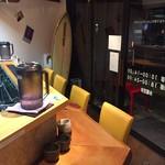 平塚のLottaのラーメン部 - ラーメン屋さんでは珍しいサーフボードが飾られており湘南をイメージさせる店内に仕上がりました!