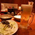 三代目 鳥メロ - 生ビール&お通し