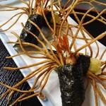 柳屋 - 海老と蕎麦の変わり揚げ