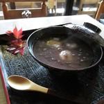 柳屋 - 蕎麦がきのおしるこ