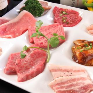 とろける味わいを堪能。仕入にこだわった上質なお肉の数々