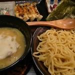 濃厚つけ麺 まる家 - 塩つけ麺(小)味たまトッピングとBセット
