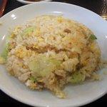 金龍園 - 鶏絲麺セット(半チャーハン)