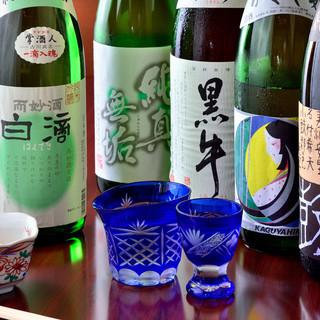 お料理に合う日本酒取り揃えています