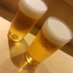 SUSHI TOKYO TEN、 - 昼のビールは旨いね