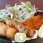 57830315 - 魚のランチ、さんまのフライ(タルタルソース)