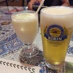 57831252 - ランチビールとラッシー