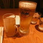クワンチャイ - 生姜茶、生ビール