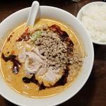 仁 - 濃厚担々麺(3辛)+ランチライス