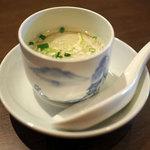 農家厨房 - ランチお粥セットのスープ