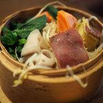農家厨房 - ランチお粥セットの野菜せいろ蒸し