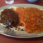 カフェレストラン ソマリ - ハンバーグミートソース(¥850)
