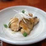 toriteisakura - お通しは「天草大王のぼんじりの柚子胡椒和え」