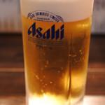 牛串萬の - お酒がすすんで途中、ビールを追加~