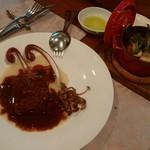57843721 - 和牛ホホ肉の赤ワイン煮込みと焼き野菜