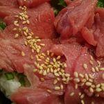 57847524 - 桜鉄火丼のアップ