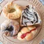 ハナバナナ - 料理写真:チョコぱん、フランク、ベーグル/ブルーベリー、チーズ