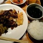 57855343 - タン切り炒め定食