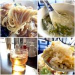 帆船 - 麺はちょい太め、スープは優しいスープは