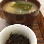 おむすび 結び菜 - 沖縄もずく酢と味噌汁